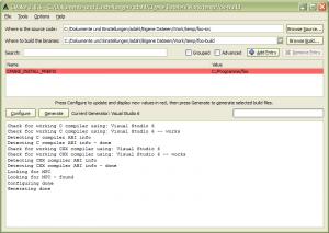 CMake GUI für unser Mini-Projekt